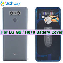 H870 Back Cover for LG G6 Battery Cover Housing Glass H871 H873 LS993 + Fingerprint Button Flex Cable Camera Lens Touch ID(China)