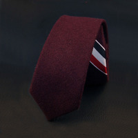 Mantieqingway Brand Classic Wool Ties For Men Popular Solid Necktie Stripe Fashion Formal Tie For Wedding