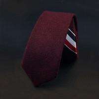 Mantieqingway Brand Classic Wool Ties For Men Popular Solid Necktie Stripe Fashion Formal Tie For Wedding