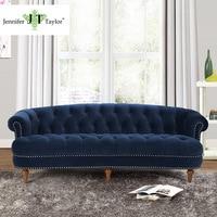 Jennifer Taylor La Rosa Estate Blue Sofa 85 W X 40 D X 32 H