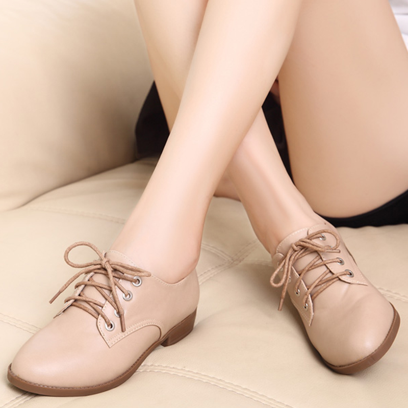 Mode Casual Leder Wohnungen Frauen 2018 Schuhe Flut Spitz Bequemen B92 YqnWZZxw