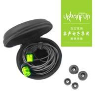 URBANFUN 3.5mm In Ear Earphone Hybrid Beryllium Drive HiFi Metal Earphone Headset Earplug with Mic