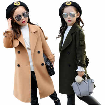 Girls Wool Coat Girls Clothes FLeece Thick Overcoat Kids Jacket for Girls Winter Coat Outerwear Children Clothing 4-15 years - DISCOUNT ITEM  10% OFF All Category