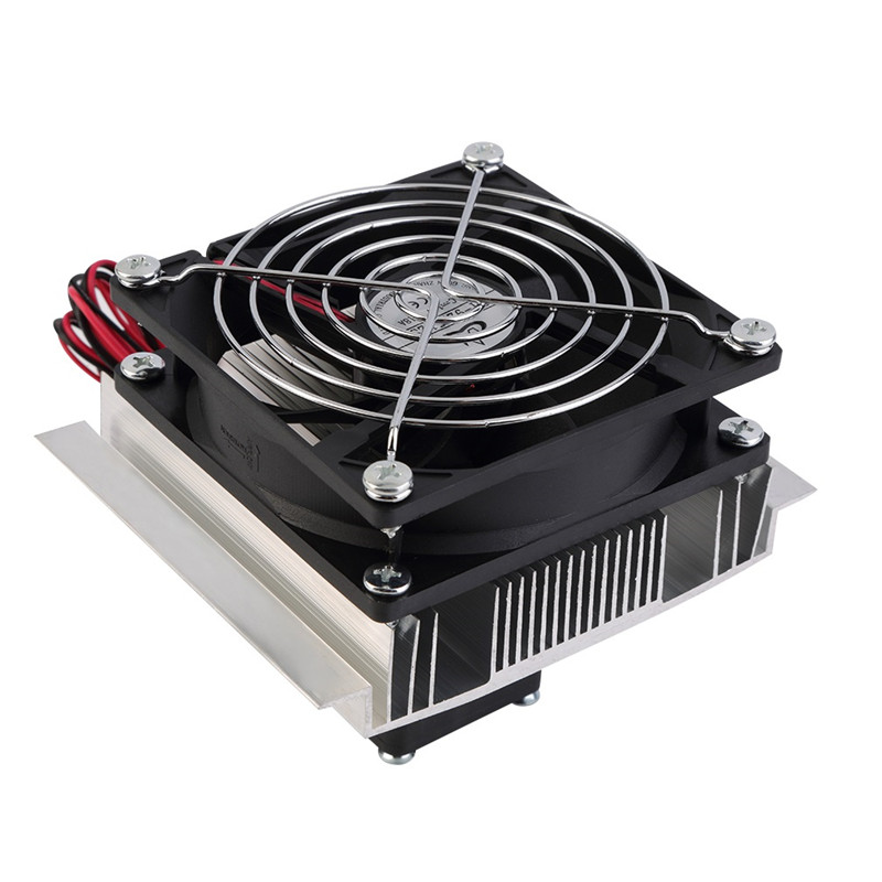 60W Refrigeration Semiconductor Cooling System Kit Thermoelectric Peltier Cooling Cooler Fan Finished Set Computer Components