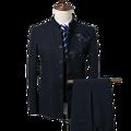 Männer blazer business gentleman Chinesischen stil Chinesische kragen kragen stickerei dünne klage 3 stück set (mantel + weste + hosen) 4XL