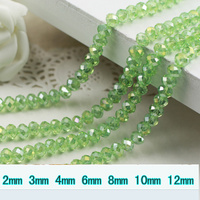 5040 AAA Top Quality Peridot AB Color Loose Crystal Glass Rondelle Beads 2mm 3mm 4mm 6mm