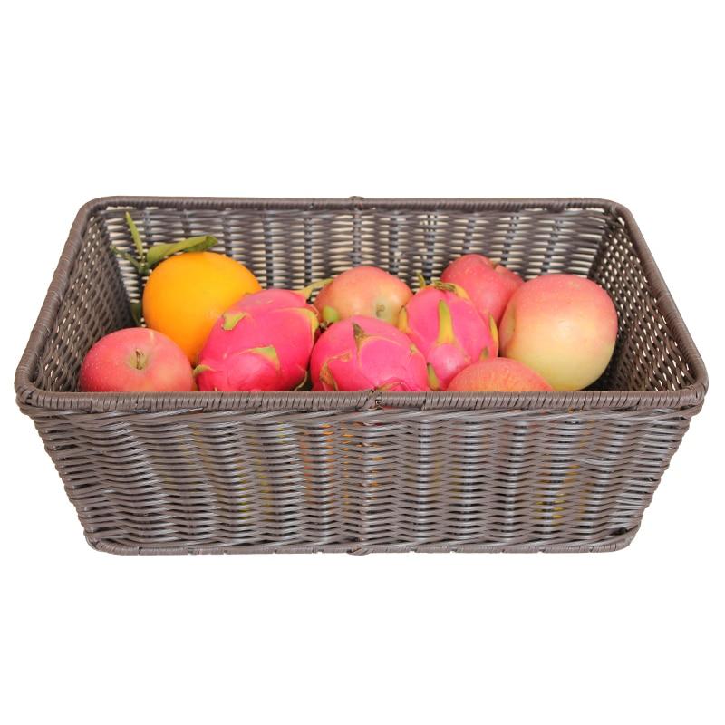 Zakka Стиль корзина для хранения Творческий multifunctinal Корзина для пикника дома органайзера кухня корзина с фруктами