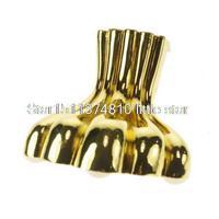 4 105mm Metal Furniture Cabinet Legs Tea Table Bed Chair Sofa Leg Feet Golden