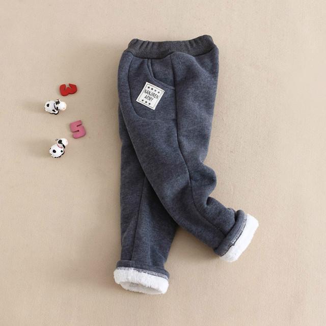 New outono inverno calças para meninos crianças cotton baby boy calças calças quentes de espessura sólida esportes outerwear das crianças