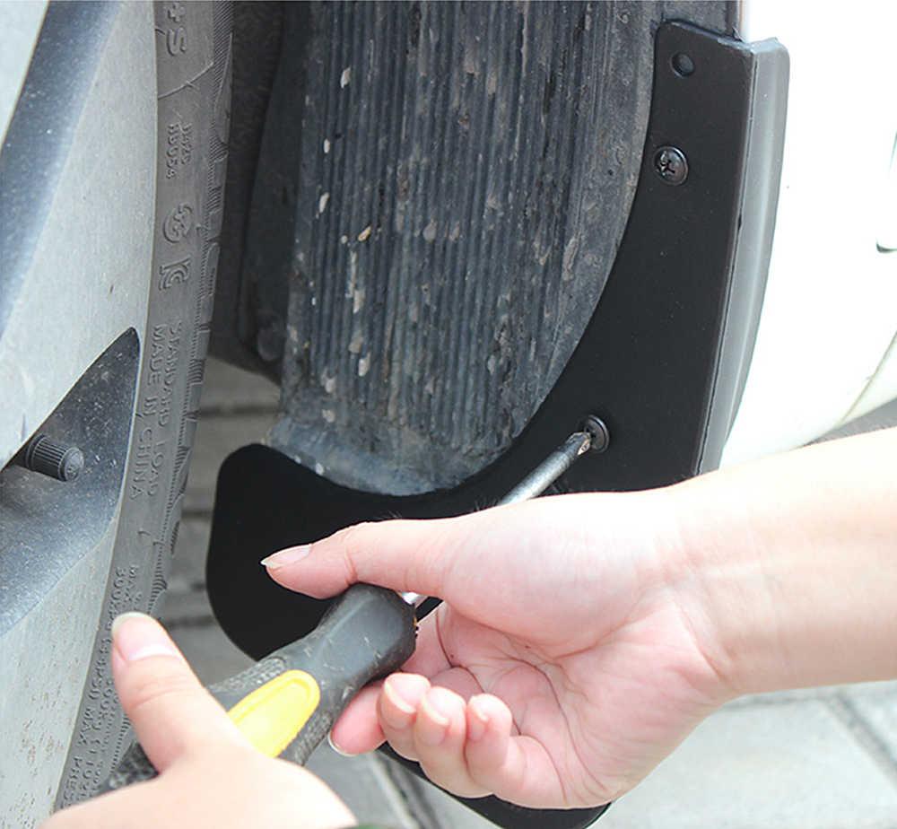 La parte trasera delantera auto Mudflap inteligente para cuatro W453 453 2015 ~ 2019 guardabarros guardia de barro solapas guardabarros 2016 accesorios 2017 2018 2nd 2 Gen