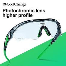 CoolChange Photochromic Polarized Cycling Glasses Bike Eyewear Sports Sunglasses MTB Bicycle Goggles Riding Fishing Myopia Frame