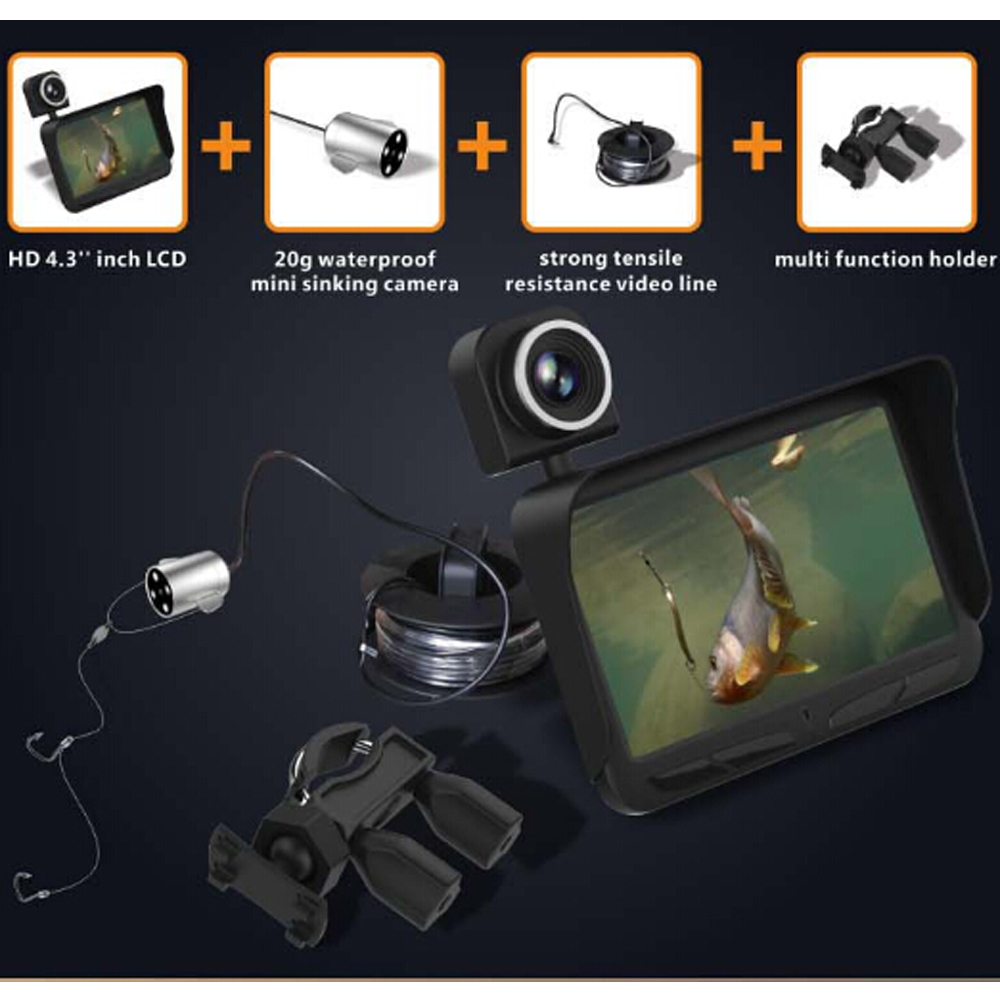 IHOME X2B 4.3 Inch Underwater fishing video double camera HD LCD 30M Visible Portable fish finder Night vision fishing toolIHOME X2B 4.3 Inch Underwater fishing video double camera HD LCD 30M Visible Portable fish finder Night vision fishing tool