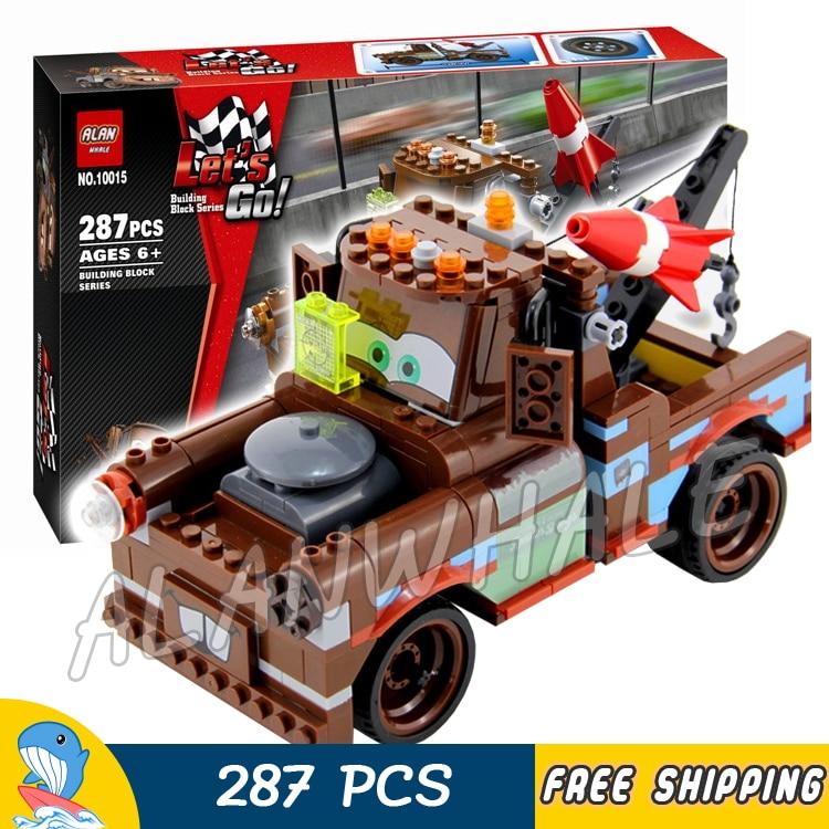 287pcs Pixar cars Exclusive Limited Edition Set Ultimate Build Mater 10015 Model Building Blocks Toys Brick Compatible With lego dt 287