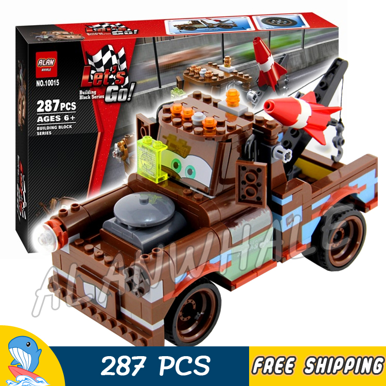287pcs Pixar cars Exclusive Limited Edition Set Ultimate Build Mater 10015 Model Building Blocks Toys Brick Compatible With lego