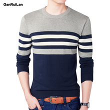 2019 New Autumn Fashion Brand Casual Sweater O-Neck Striped Slim Fit Knitting Mens Sweaters And Pullovers Men Pullover Men B0275 autumn fashion brand casual sweater o neck striped slim fit mens sweaters pullovers men pull homme contrast color knitwear