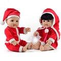 Artesanal Silicone Reborn Bonecas De Natal 20' Vinil Macio Crianças Realistas Bonecas Brinquedos Bonecas 50 cm Brinquedos Crianças Playmate