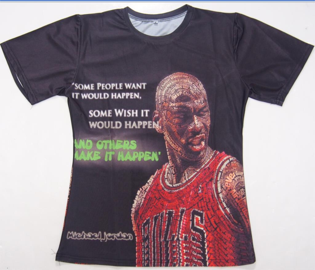 T shirt design hong kong - Design Creative Jordan Print T Shirt Michael Jordan Mj Letter Patchwork Tee Shirt For Men