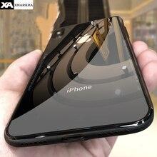 Чехол из закаленного стекла для iPhone 7, 8, 6, 6s Plus, высокое качество, прозрачный мягкий силиконовый стеклянный чехол для iPhone 11 Pro, X, XR, XS, Max, чехол s