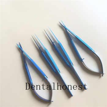 4pcs/set titanium microsurgical instruments microsurgery instruments Kit (invoicing )scissors needle holder forceps 14cm