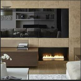 30 Inch Silver Or Black Real Fire Wifi  Intelligent Auto Bio Ethanol Fireplace