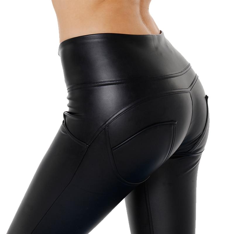 AK der hand sex gestaltung hosen hohe taille fleece gefüttert workout leggings faux leder yoga hosen bum gestaltung in lager für immer