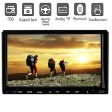 """Double 2 din In dash Car stereo DVD CD Video Player 7"""" HD Touch Screen Car Radio Audio Bluetooth RDS TV iPod MP3 PC No-GPS VW"""