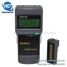 KELUSHI Portable Multifunction Wireless Network Tester Sc8108 LCD Digital PC Data Network CAT5 RJ45 LAN Phone Cable Tester Meter