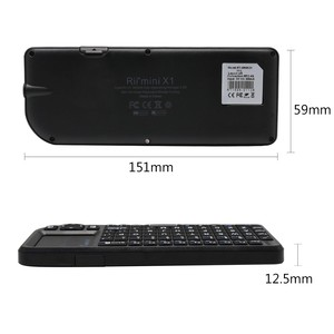 Image 4 - Originele Rii X1 2.4GHz Mini Draadloze Toetsenbord Engels Toetsenbord met TouchPad voor Android TV Box/Mini PC/ laptop