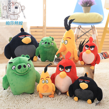 1pcs 20cm/30cm  HOT Flying red black birds pig plush kids toys children stuffed dolls  3D Cartoon lovely animal birds action