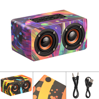 Portable Magnetic Bluetooth Speaker Wooden Wireless Bluetooth Box Music Player with AUX Wired Connection for Smartphone / PC