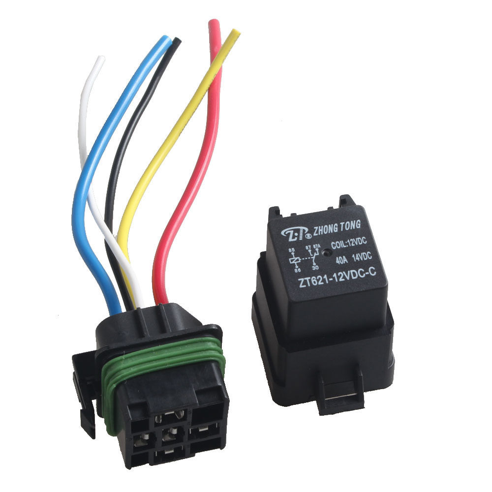 ee support 5 pcs car auto heavy duty 12v 40a spdt relay. Black Bedroom Furniture Sets. Home Design Ideas
