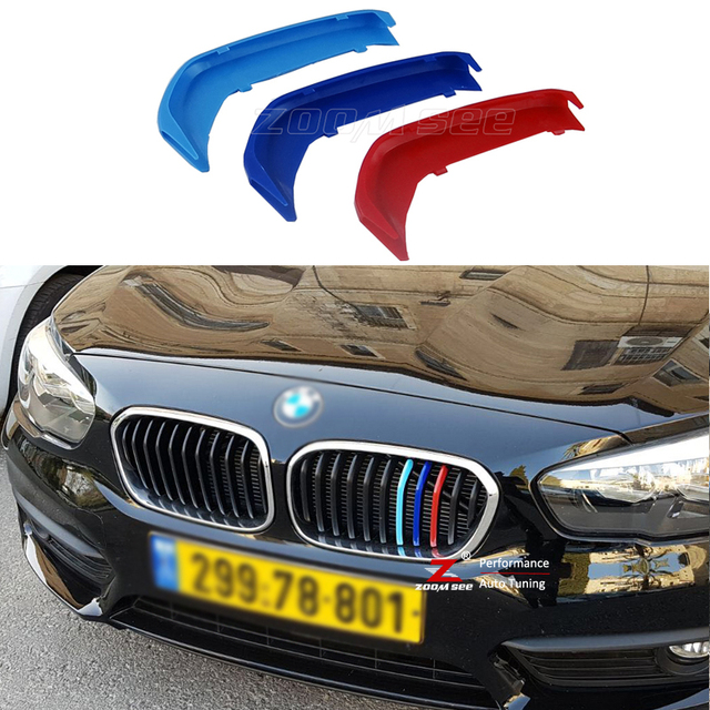 M Styling Car Front Grille Motorsport Strips Grill Cover Sticker For