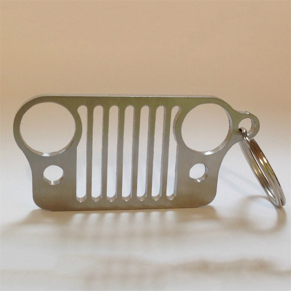 NewHigh качество нержавеющая сталь гриль брелок для решетка джипа брелок CJ JK TJ YJ XJ Прямая