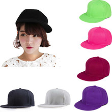 2018 NEW Fashion Hat Hip-Hop Adjustable Cap Unisex Baseball Caps Plain in Light gray Purple Hot pink Green Black Color #YL