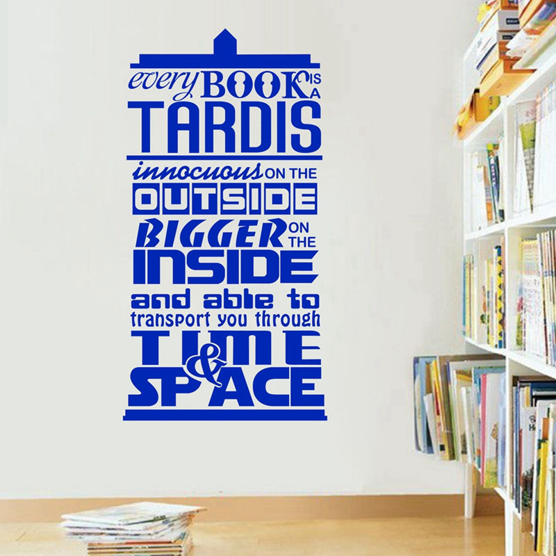 Doctor Who Inspired Wall Stickers Every Book Is A Tardis Vinyl Quote Decal In  Wall Stickers From Home U0026 Garden On Aliexpress.com | Alibaba Group