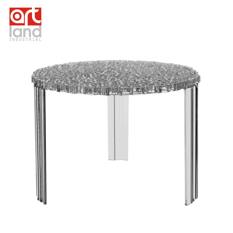 Molded Plastic Coffee Table, Transparent Clear Teapoy, Tea Table, Color( Clear, Part 66