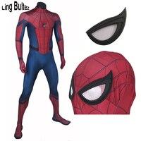 Ling Bultez Высокое качество 3D принт гражданская война человек паук костюм взрослый костюм из лайкры том Холланд для мужчин любой размер