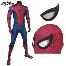 Ling Bultez High Quality 3D Print Civil War Spider Man Costume Adult Lycra Suit Tom Holland Spiderman Suit For Men Any Size