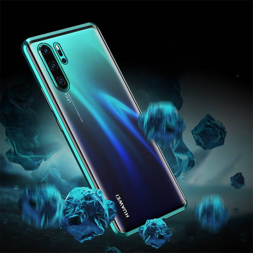 R-just Magnetic Metal Bumper Case for Huawei P30 Lite Tempered Glass Front Back Cover (12)