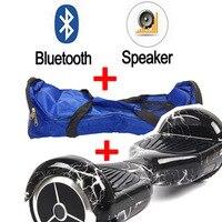 Iki tekerlek Kendini ayakta elektrikli unicycle Bluetooth + Çanta 4400mA Emniyet pil scooter elektrikli hoverboard yalnız kaykay