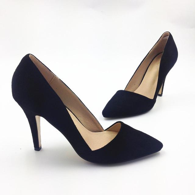 2017 das mulheres-sapatos de salto alto sapatos único apontou toe de veludo sapatos de festa formal