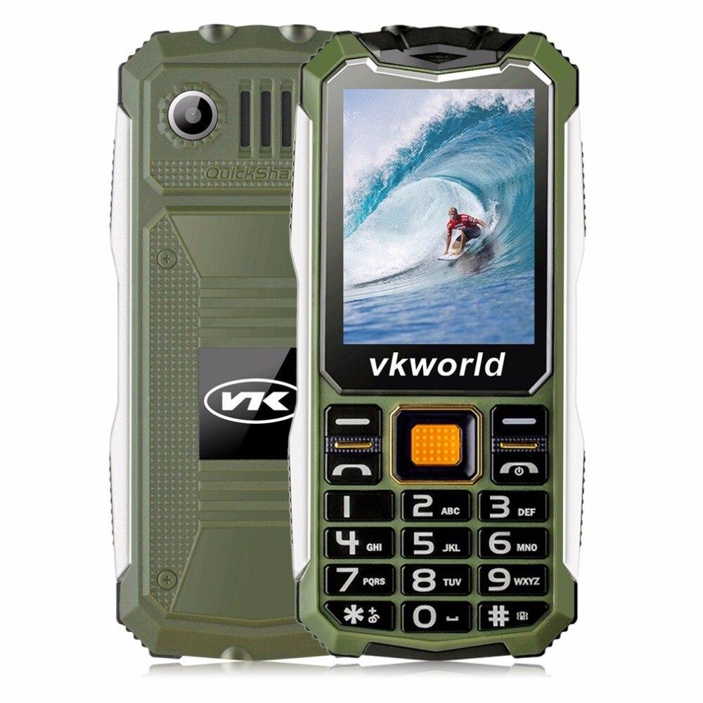 Цена за Оригинал VKworld Камень V3S Мобильный Телефон 2.4 дюймов Dual SIM слот Bluetooth Водонепроницаемый 21 Ключи 2200 мАч FM Сотовых Телефонов Высокого качество