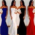 2016 Novo Chegada Dubai Europa Sereia Real Vestido Azul do Baile de finalistas Longo Bra vestido de Mulheres do Partido Até O Chão vermelho Vestidos Robe De Soiree