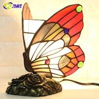 Фумат бабочка ночник Тиффани Стекло бабочка фары для Гостиная прикроватной тумбочке Лампы для мотоциклов дома деко теплые кормящих ночь Ла