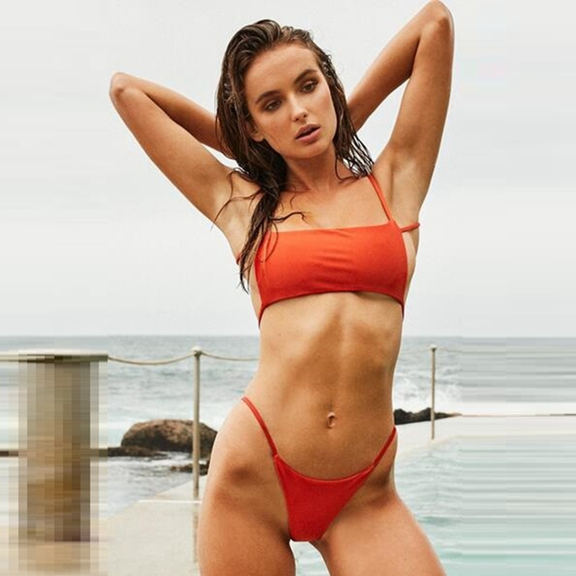 Bikinis Swimsuit Micro Strappy Us9 Set Bikini Solid 2019 Bandage Swimwear In Mini Female Women Brazilian 99new CWoedBrx