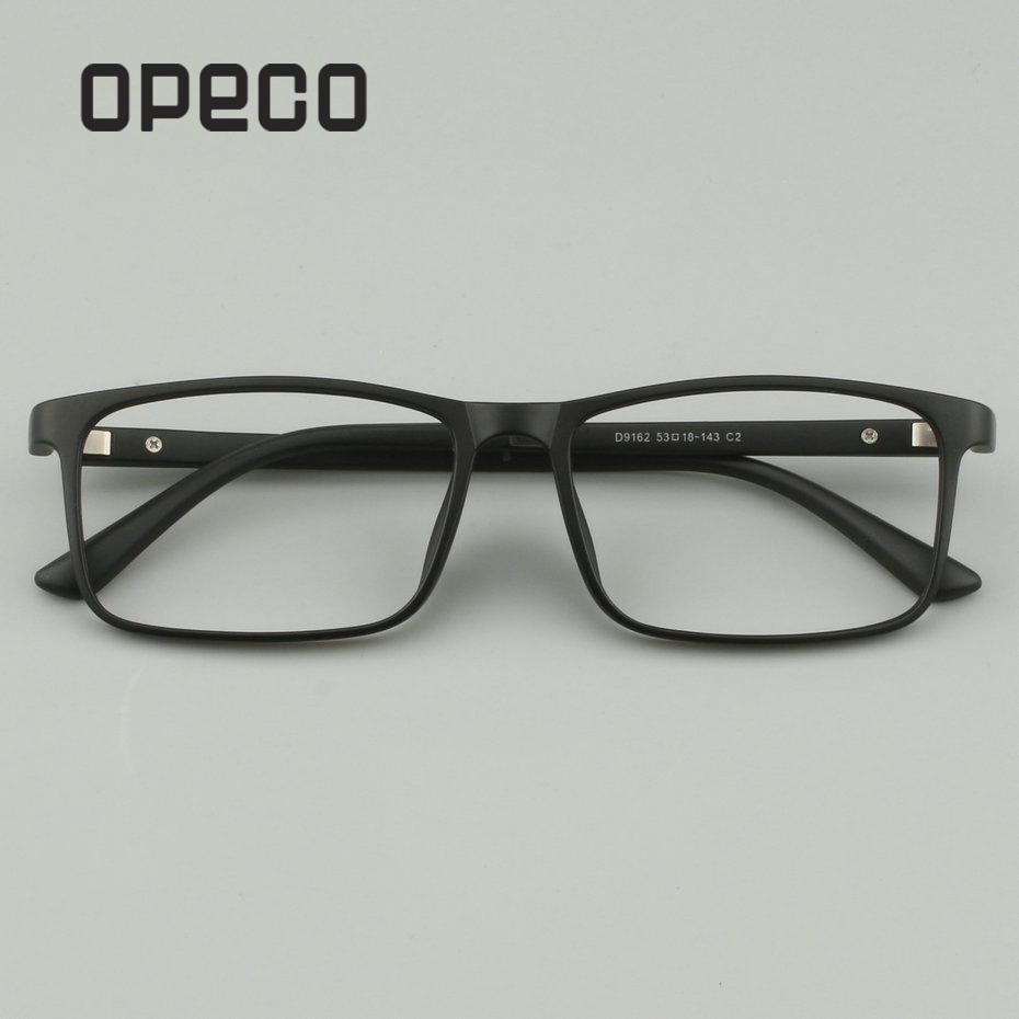 Opeco Fullrim TR90 Men's Optical Frame Progressive Multifocal Photochromic Anti Blue Clear Lens Prescription Eyeglasses D9162
