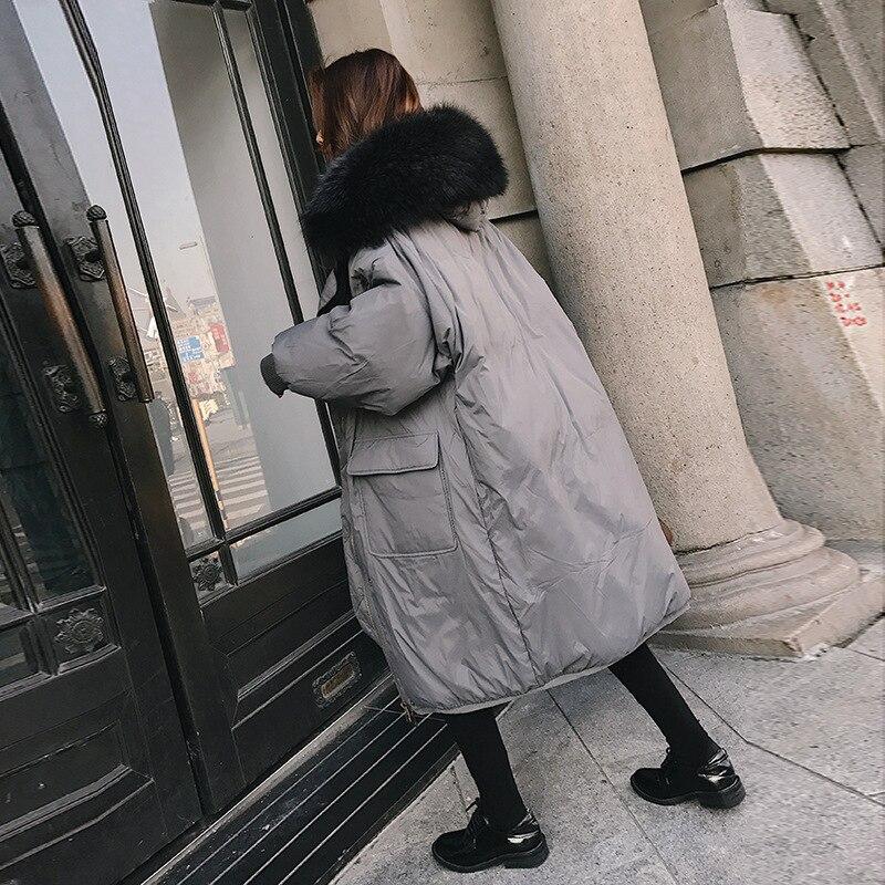 Femmes army Coton Veste Manteau Coupe Épaissir Col Cw011 De Mi Lâche À Fourrure Parkas Vêtements Chaud Gray Green D'hiver Capuche long En 2019 Nouveau PZOXiuTk