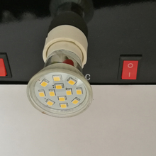 Free shipping cost 10pcs/lot Mini 35mm GU10 2.4W 180LM 2835SMD LED Spotlight AC220-240V
