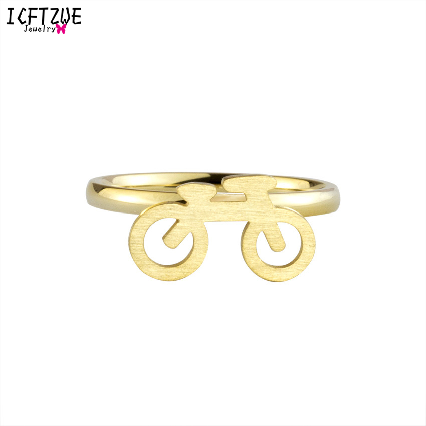 ICFTZWE Hot Best Product Lovely Biker Ring Hammered Bands Gold Silver Colour Accessories Jewelry For Kids Bague Homme
