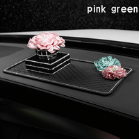 Car Air Freshener Perfume Clips Flower Perfume Fragrance Crystal Diamond Air Outlet Vent Fresh Women